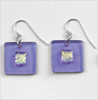 Amethyst Bullseye Earrings