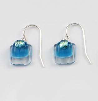 Blue Zircon Tiny Earrings
