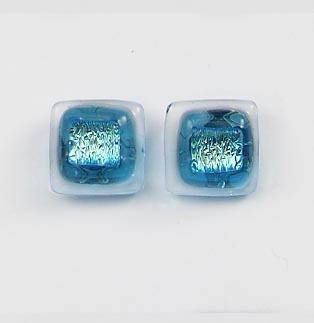 Blue Zircon Post Earrings