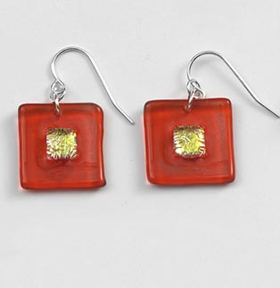 Flame Bullseye Earrings