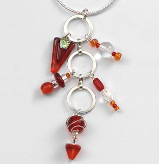 Flame Charm Necklace