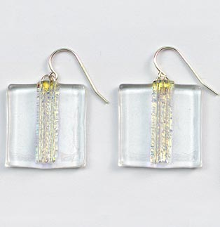 Ice Striped Square Earrings