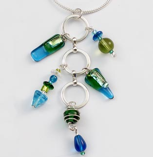 Island Blue Charm Necklace